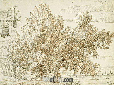 Trees on the Shores of the Lagoon, c.1740/45 | Canaletto | Painting Reproduction