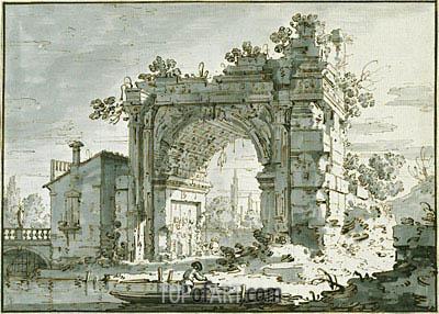 Canaletto | A Capriccio with a Roman Arch, c.1742/45