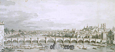 Canaletto | Westminster Bridge, London, c.1747