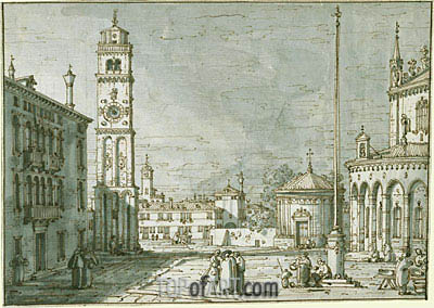 A Capriccio with Santi Maria e Donato, Murano, c.1755/60 | Canaletto | Painting Reproduction