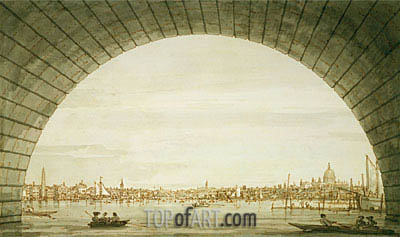 Canaletto | London: The City Seen through an Arch of Westminster Bridge, c.1750
