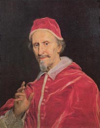 Pope Clement IX, c.1667/69 by Giovanni Battista Gaulli Baciccio | Painting Reproduction