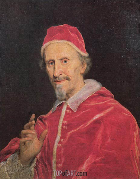 Pope Clement IX, c.1667/69 | Giovanni Battista Gaulli Baciccio | Painting Reproduction