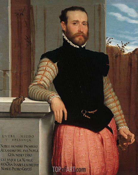 Giovanni Battista Moroni | Portrait of Prospero Alessandri, 1560