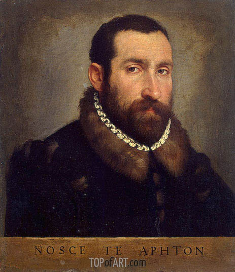 Portrait of a Man, c.1565 | Giovanni Battista Moroni | Painting Reproduction