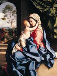 The Virgin and Child Embracing, c.1660/85 by Sassoferrato | Painting Reproduction