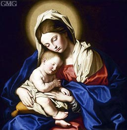 Madonna and Child, undated by Sassoferrato | Painting Reproduction