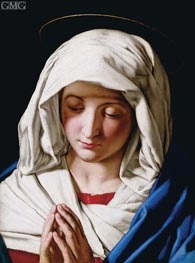 Madonna Orante, c.1640 by Sassoferrato | Painting Reproduction