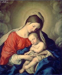 The Virgin and Child, undated by Sassoferrato | Painting Reproduction