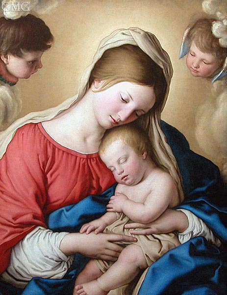 Le Sommeil de l'Enfant Jesus, undated | Sassoferrato | Painting Reproduction