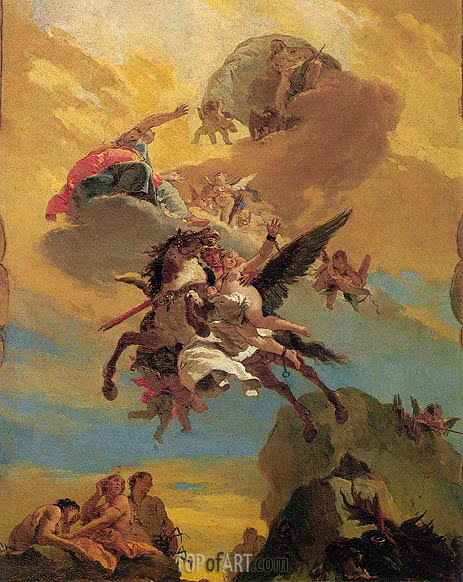 Perseus and Andromeda, c.1730 | Tiepolo | Painting Reproduction