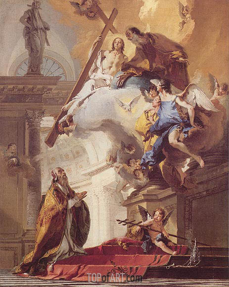 The Trinity Appearing to Saint Clement, c.1730/35 | Tiepolo | Painting Reproduction