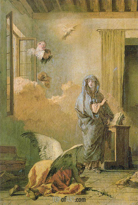 The Annunciation, c.1765/70 | Tiepolo | Painting Reproduction