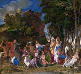 The Feast of the Gods, c.1514/29 von Giovanni Bellini | Gemälde-Reproduktion