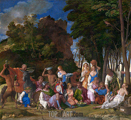 The Feast of the Gods, c.1514/29 | Giovanni Bellini | Painting Reproduction