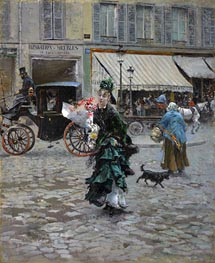 Crossing the Street, 1875 by Giovanni Boldini | Painting Reproduction