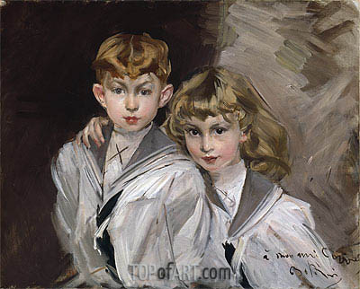 The Two Children,  | Giovanni Boldini | Painting Reproduction