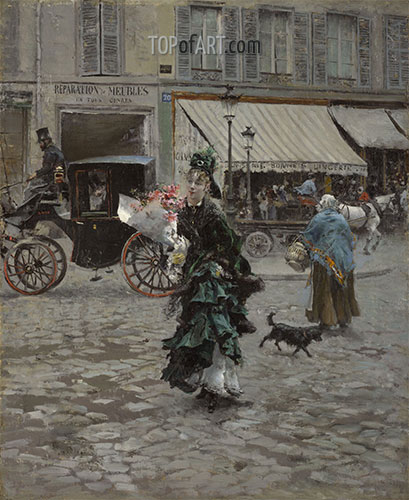 Giovanni Boldini | Crossing the Street, 1875