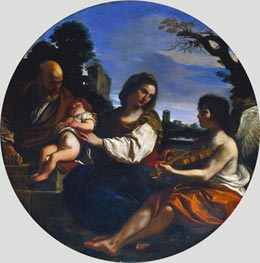 Rest on the Flight into Egypt, 1624 von Guercino | Gemälde-Reproduktion