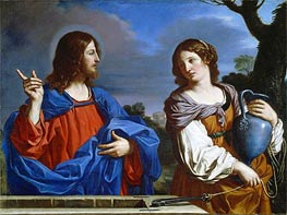 Christ and the Woman of Samaria, 1647 von Guercino | Gemälde-Reproduktion