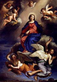 Assumption of the Virgin, 1650 von Guercino | Gemälde-Reproduktion