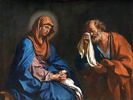 The Tears of St. Peter, 1647 von Guercino | Gemälde-Reproduktion