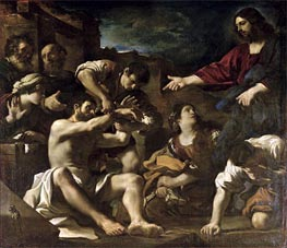 The Resurrection of Lazarus, c.1619 von Guercino | Gemälde-Reproduktion