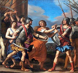 Hersilia Separating Romulus from Ratius, c.1645 by Guercino | Painting Reproduction