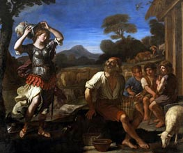 Erminia and the Shepherds, 1648 von Guercino | Gemälde-Reproduktion