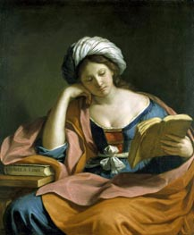 The Libyan Sibyl, 1651 by Guercino | Painting Reproduction