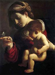 Madonna of the Sparrow, c.1615/16 von Guercino | Gemälde-Reproduktion