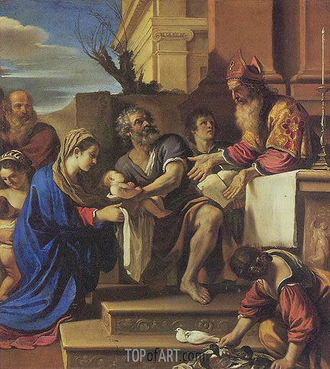 Presentation in the Temple, c.1623 | Guercino | Gemälde Reproduktion