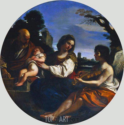 Guercino | Rest on the Flight into Egypt, 1624