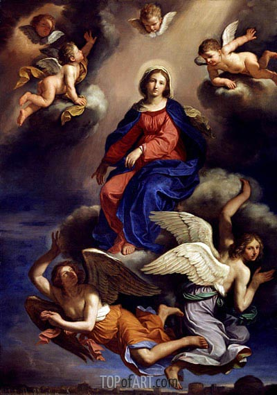 Assumption of the Virgin, 1650 | Guercino | Painting Reproduction