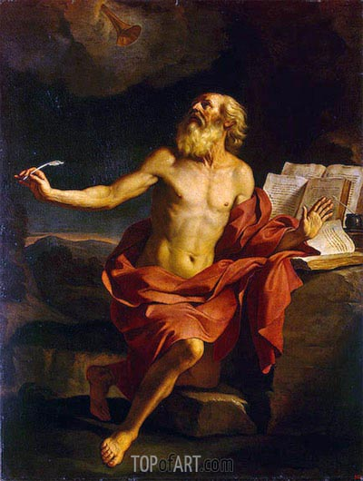 St Jerome in the Wilderness, c.1650 | Guercino | Painting Reproduction