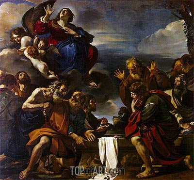 The Assumption of the Virgin, 1623 | Guercino | Painting Reproduction