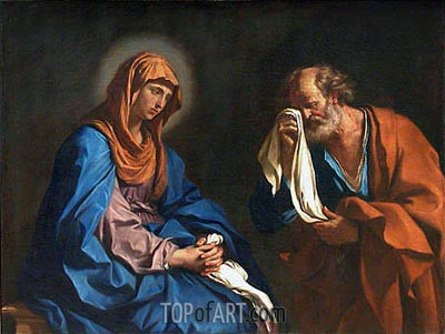 The Tears of St. Peter, 1647 | Guercino | Gemälde Reproduktion