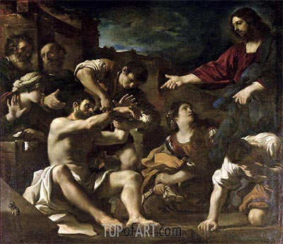 The Resurrection of Lazarus, c.1619 | Guercino | Painting Reproduction