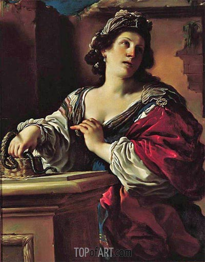 Suicide of Cleopatra, c.1621 | Guercino | Painting Reproduction
