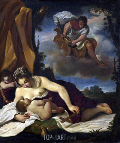 Caritas,  | Guercino | Painting Reproduction