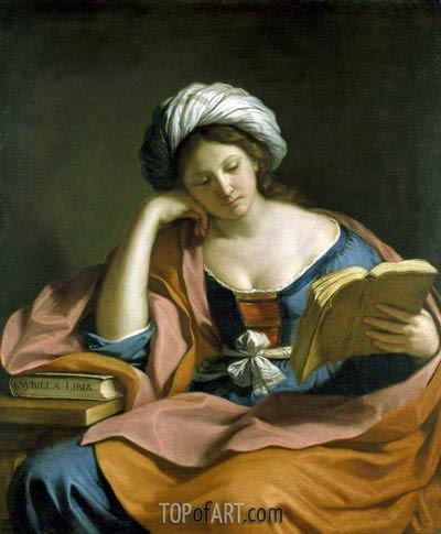 The Libyan Sibyl, 1651   Guercino   Gemälde Reproduktion