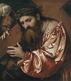 Christ Carrying the Cross, undated by Girolamo Romanino | Painting Reproduction