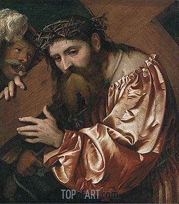 Christ Carrying the Cross, undated | Girolamo Romanino | Painting Reproduction
