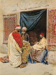 The Carpet Merchant, undated by Giulio Rosati | Painting Reproduction