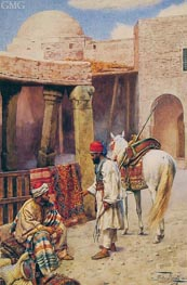 The Carpet Seller, undated by Giulio Rosati | Painting Reproduction
