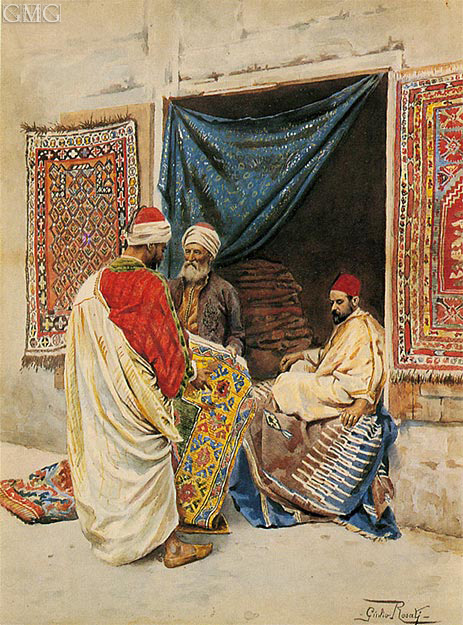 Giulio Rosati | The Carpet Merchant, undated