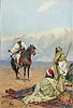 A Horseman Stopping at a Bedouin Camp | Giulio Rosati