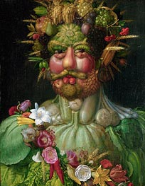 Rudolf II (Vertumnus), c.1590 by Arcimboldo | Painting Reproduction