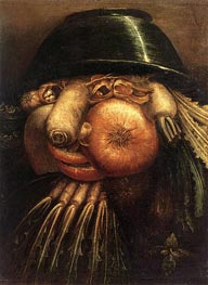 Vegetable Gardener, c.1590 by Arcimboldo | Painting Reproduction