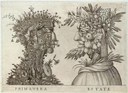 Spring and Summer, undated by Arcimboldo | Painting Reproduction